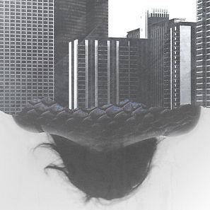 Collage de humanos y edificios