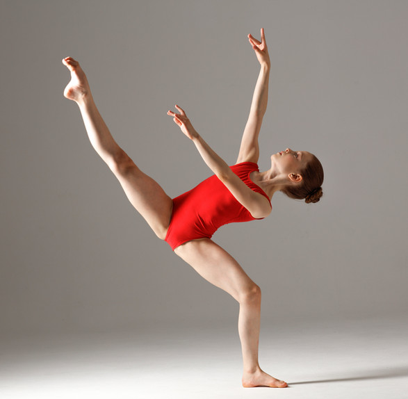 Young Gymnast in Red