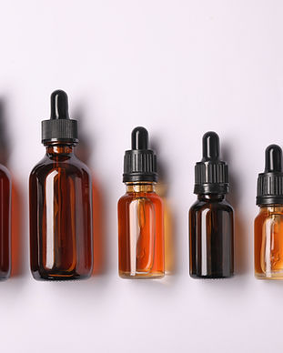 Bottles of Essential Oil