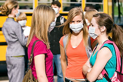 Teenage Girls with Masks