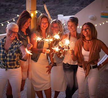 Women with Sparklers