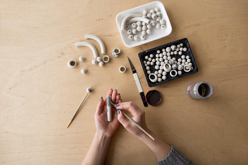 Painting Ceramic Beads