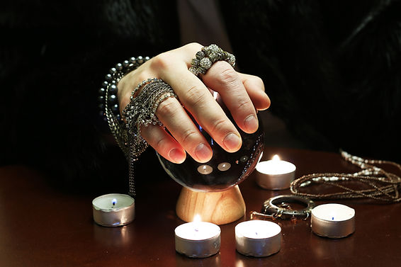 Crystal Ball in Psychic Hands