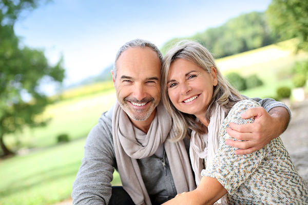 Smiling Couple at eagle valley family dentistry in bellefonte, pa