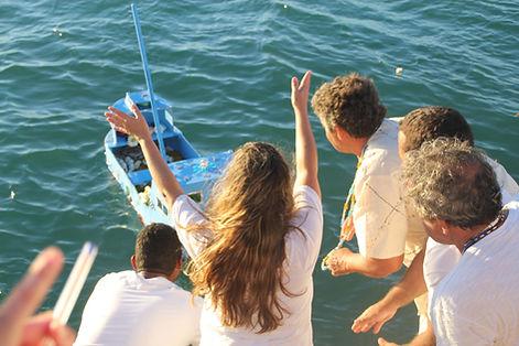 Ein Boot beobachten