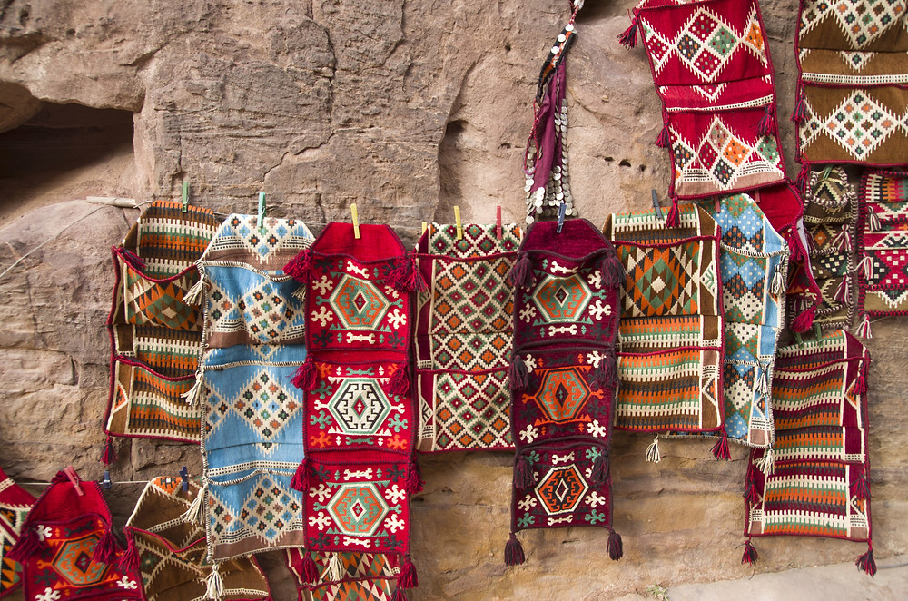shopping colourful blankets in egypt