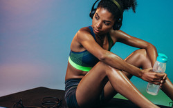 Fit Woman with Headphones