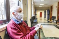Senior Man with Mask