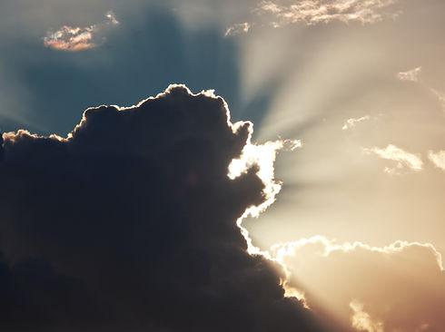 Wolke mit Silberstreifen