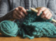 Woman Knitting