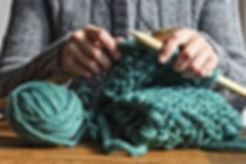 Woman Knitting