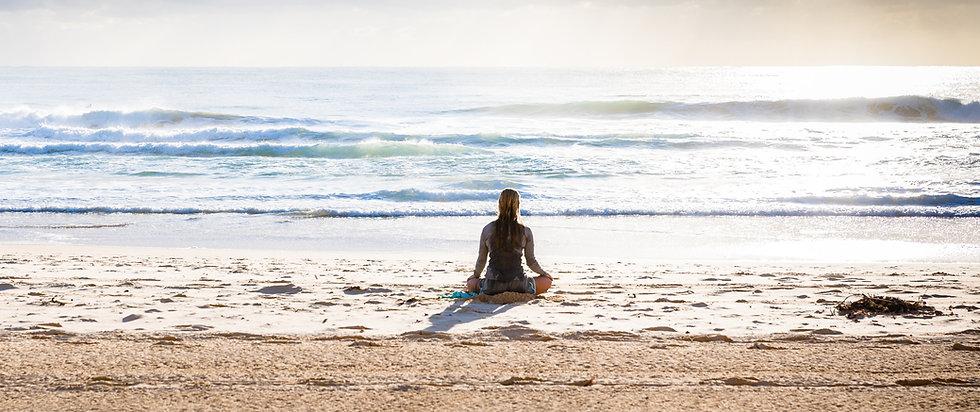 Meditieren am Strand