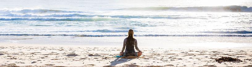 Meditating on the Beach