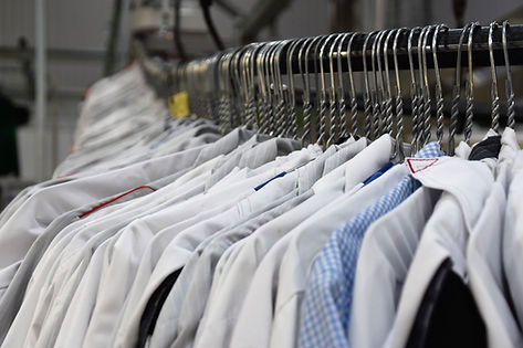 Shirts waiting for chemical dry cleaning