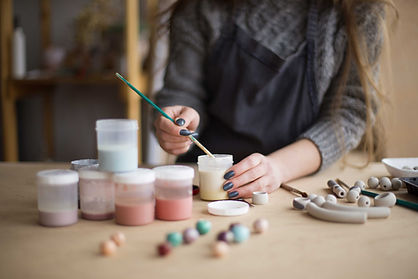 Artist Painting Jewelry