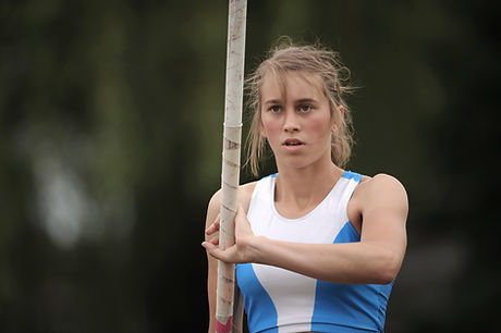 Athlete Concentrating