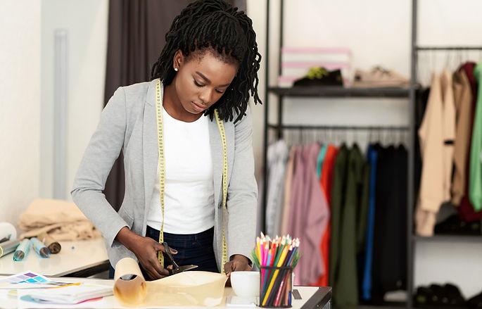 Woman Cutting Paper