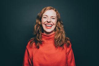 Portret lachende vrouw