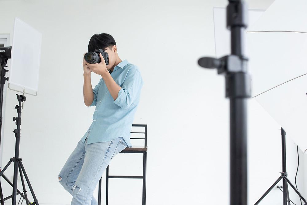 Professional Photographer In Studio