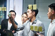 Geschäftliches Brainstorming