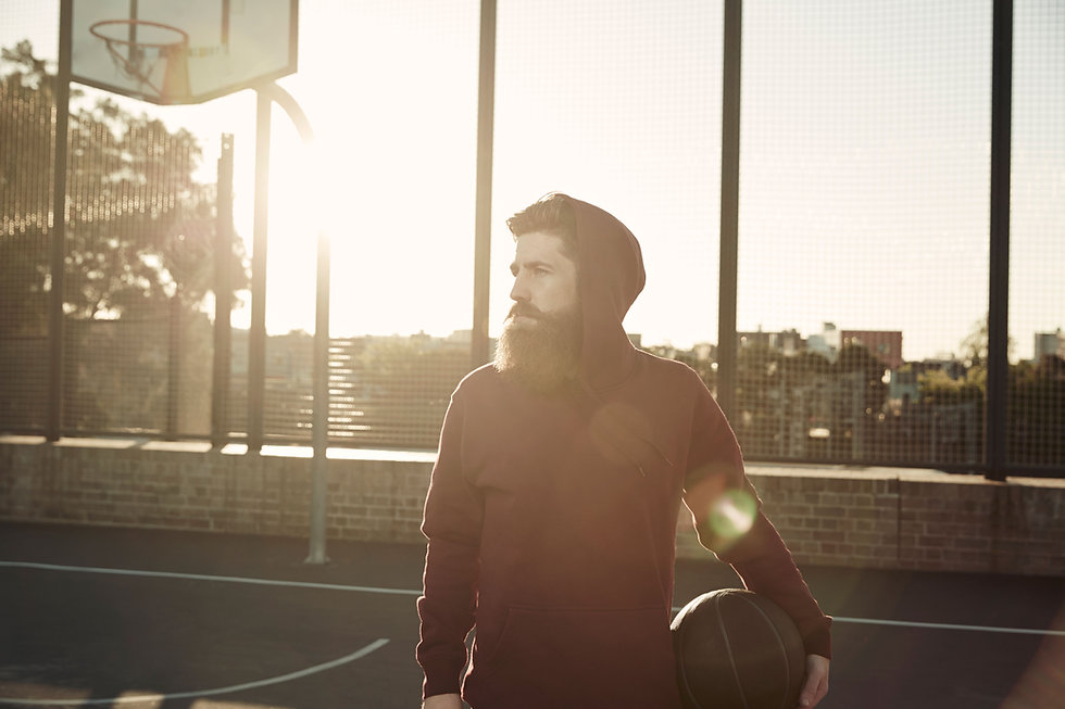 Basketball Player in Hoodie