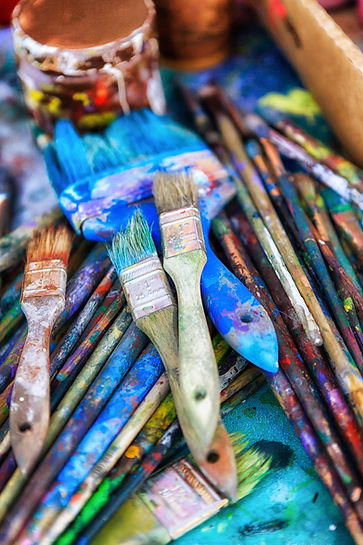 Scattered Paintbrushes