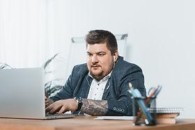 Businessman with Tattoo