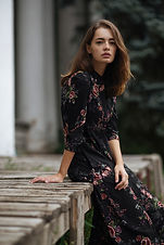 Woman in Floral Dress