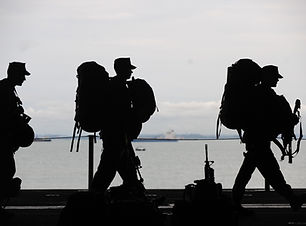 Silhouette of Soldiers