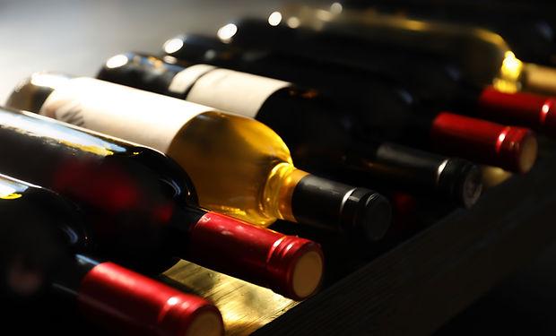 Selezione di bottiglie di vino