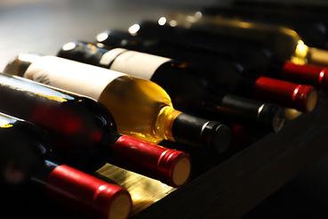 Selección de botellas de vino