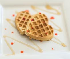 Waffles em forma de coração