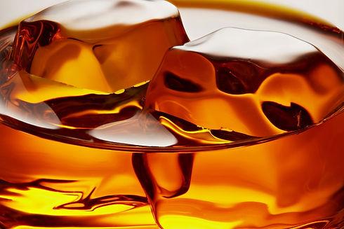 Amber Whiskey Closeup