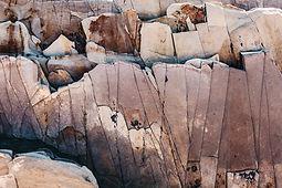 Rocas agrietadas