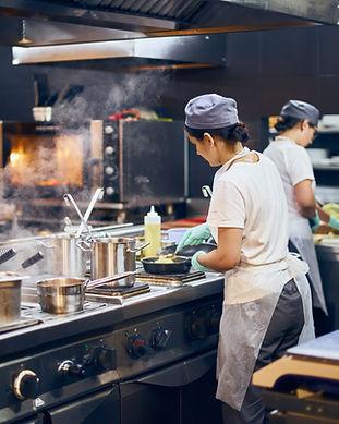 Cozinha de restaurante moderno