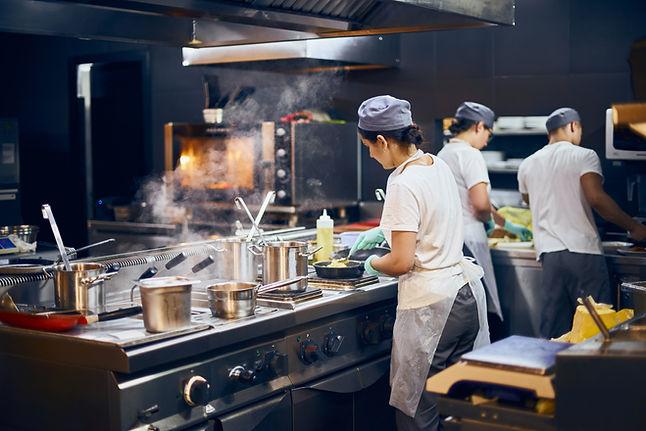 Moderne Restaurantküche