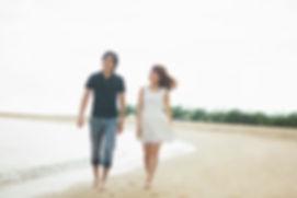 ビーチでの散歩