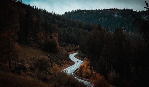 Route venteuse
