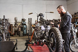 Mécanicien, réparation, moto
