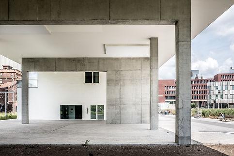 Concrete Building Entrance