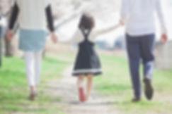 家族で散歩