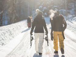 Прогулка на снегоступах успокойте го
