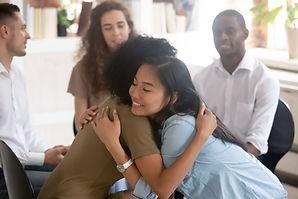 Een ondersteunende knuffel