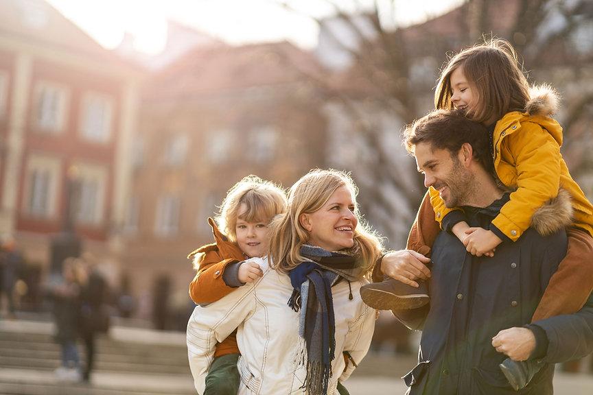 Família que sorri
