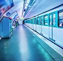 In het metrostation