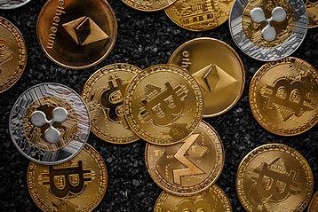 Scattered Coins, Ripple, Ethereum, Litecoin, Monero