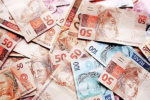 Muitas notas de dinheiro
