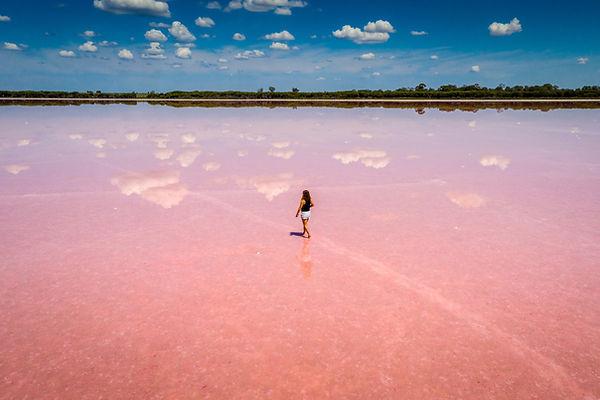 Walking on Pink Water