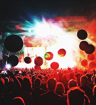 Illuminated Concert Crowd