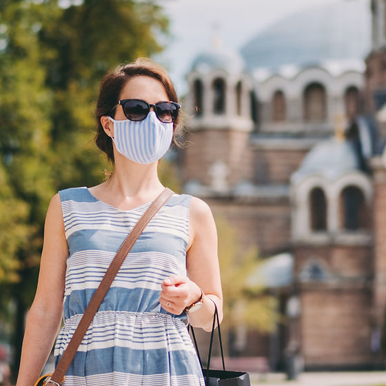 Tourist with Mask
